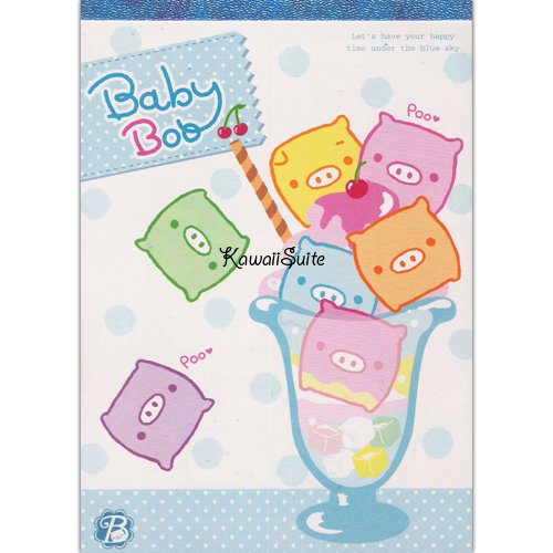 San-X Baby Boo Ice Cream Sundae Memo Pad Kawaii Stationery