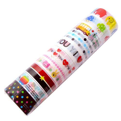 Wholesale Kawaii Deco Tapes 10 Rolls (Lot C)