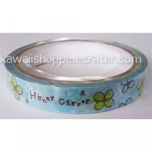 Mind Wave *Honey Clovers* Deco Tape - Kawaii Clover Flowers Flower Blue Green