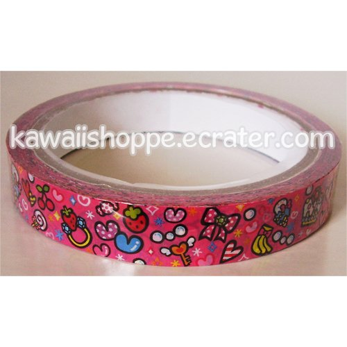 Pink Pool Cool Deco Tape - Food Ice Cream Cherries Strawberries Sweets Jewels Gems Kawaii