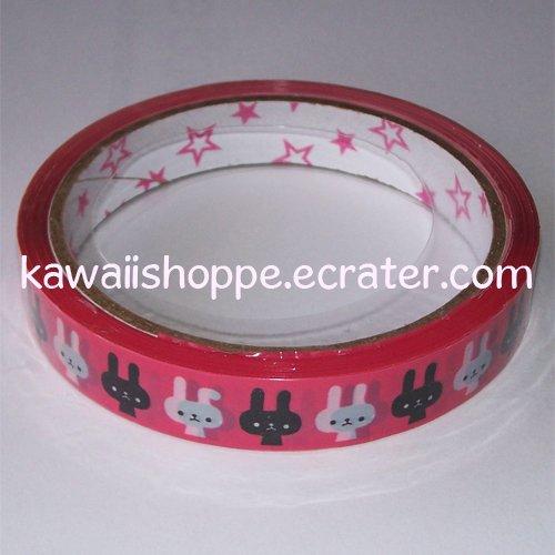 *I Am Rabbit* Deco Tape - Kawaii Bunny Bunnies Black White Hot Pink