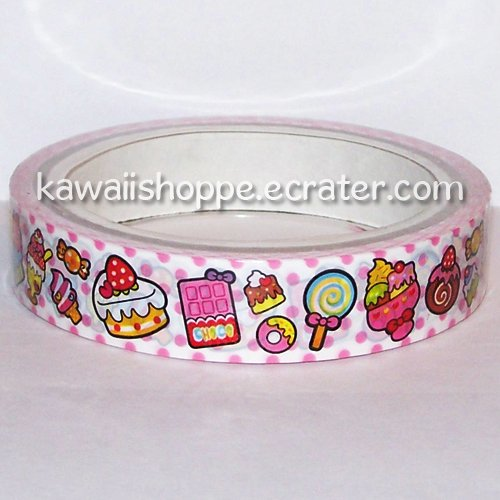 Kamio Japan Desserts Ice Cream Cakes Candies Deco Tape Kawaii