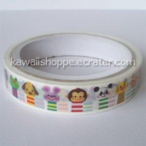 Kamio Japan Wonderful Friends Deco Tape Kawaii
