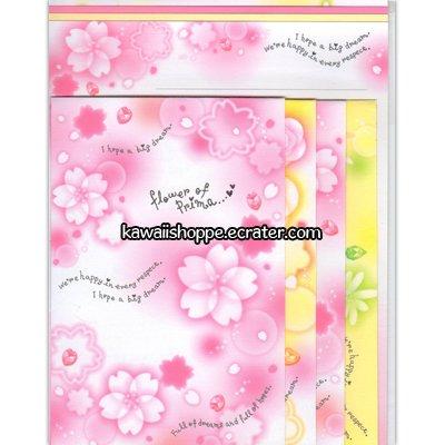 CRUX *Sakura* Cherry Blossom Flowers of Prima Letter Set Kawaii Flowers