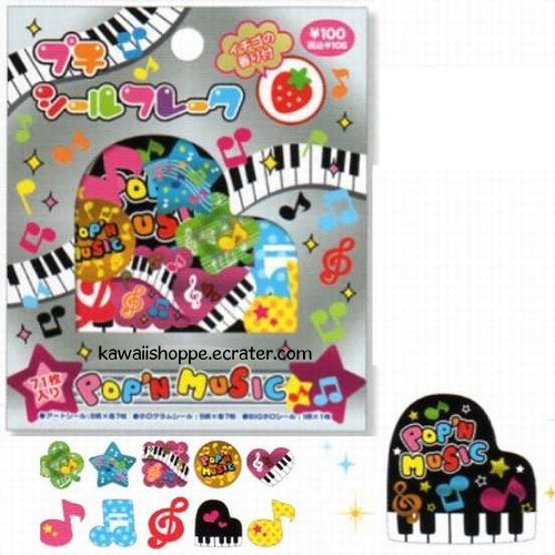 Kamio Japan Pop 'n Music Sticker Sack Kawaii Stickers
