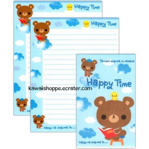 Happy Time Letter Set Kawaii