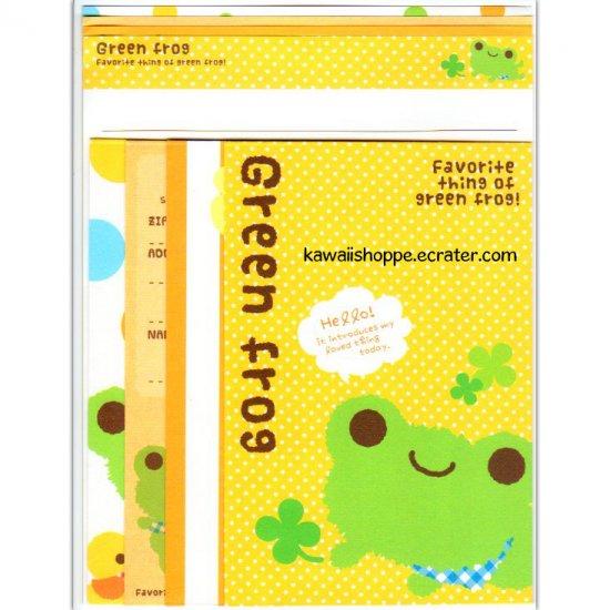 Q-Lia Green Frog Letter Set Kawaii