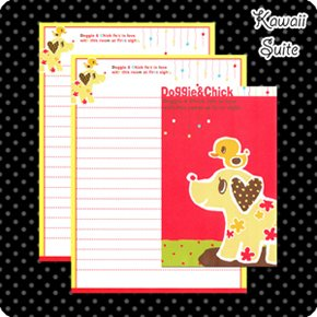 Doggie & Chick Letter Set Kawaii
