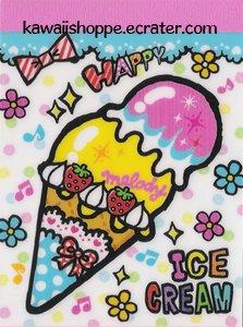 Kamio Japan *Happy Ice Cream* Mini Memo Pad Kawaii Sweets Desserts