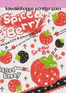 CRUX *Spice Berry* Mini Memo Pad Kawaii Strawberries Sweet Delicious