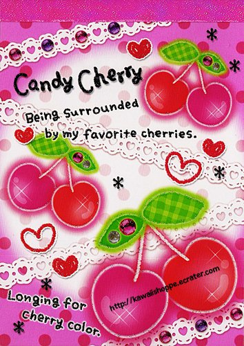 Kamio Japan Candy Cherry Memo Pad Kawaii Stationery Cherries Pink Red Lace Jewels