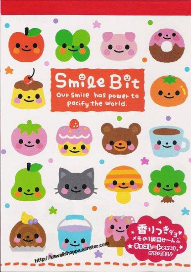 Q-Lia Smile Bit Memo Pad Kawaii Stationery Desserts Donuts Doughnuts Apple Bear Ice Cream