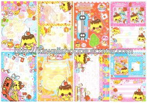 CRUX Lunch Bento Foods Loose Memo Sheets #002 Kawaii