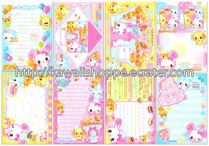 CRUX Animal Parfait Loose Memo Sheets #004 Kawaii