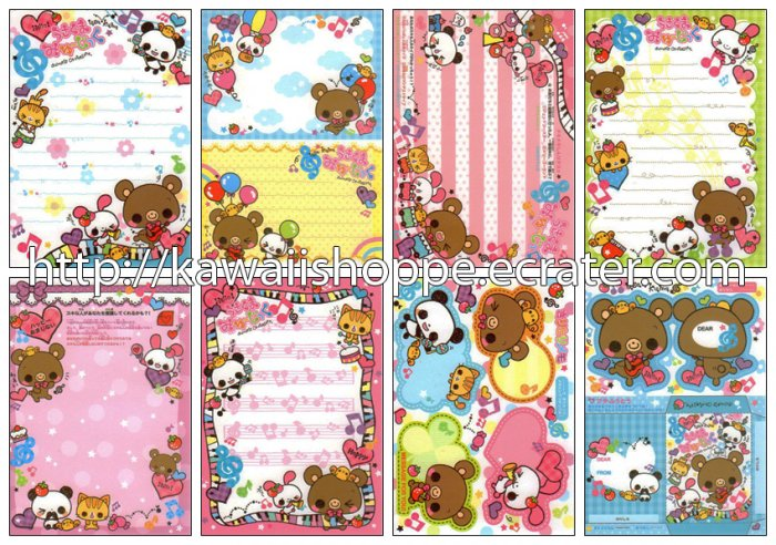 Pool Cool Animal's Orchestra Loose Memo Sheets #061 Kawaii