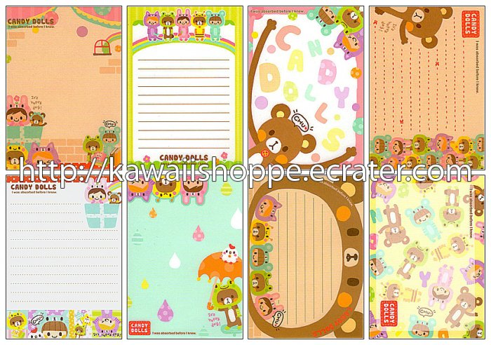 Q-lia Candy Dolls Loose Memo Sheets #063 Kawaii