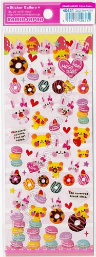 Kamio Japan Mogo Mogo Rabi Sticker Sheet - Kawaii Stickers