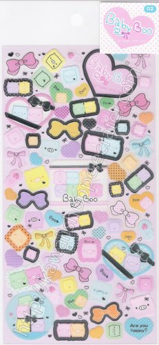 San-X Baby Boo Sticker Sheet A - Kawaii Stickers So Happy With You