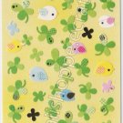 #SE010 Q-lia Clovers Sticker Sheet  - Green Clover Kawaii Stickers