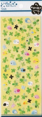#SE010 Q-lia Clovers Sticker Sheet  - Green Clover Kawaii Stickers