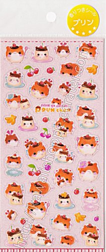 Q-lia Prun Chan Pudding Sticker Sheet #SE009 - Kawaii Stickers
