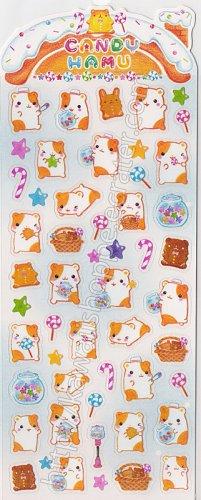 Q-lia Candy Hamu Hamster Desserts Sticker Sheet #SE008 - Kawaii Stickers