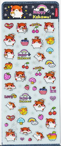 Q-lia Happy Kohamu Sticker Sheet #SE012 - Kawaii Stickers
