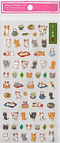 Kamio Japan Neko Kitten Cats Sticker Sheet - Kawaii Stickers Kitty