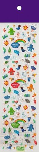 Happy Rainy Day Weather Sticker Sheet - Kawaii Stickers