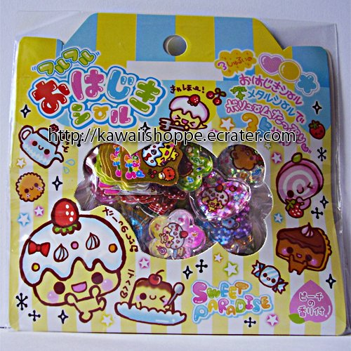 Q-lia Sweet Paradise PVC Sticker Sack - Kawaii Dessert Stickers Sacks