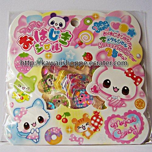 Q-lia Magical Candy PVC Sticker Sack Kawaii Stickers Candies Sweets Doughnuts Fruity