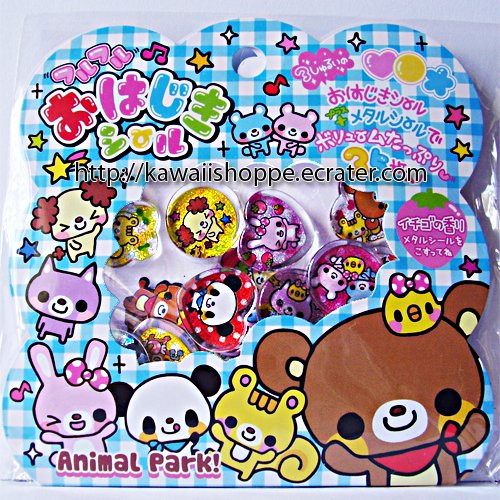 Q-lia Animal Park PVC Sticker Sack Kawaii Stickers Bunny Bear Squirrel