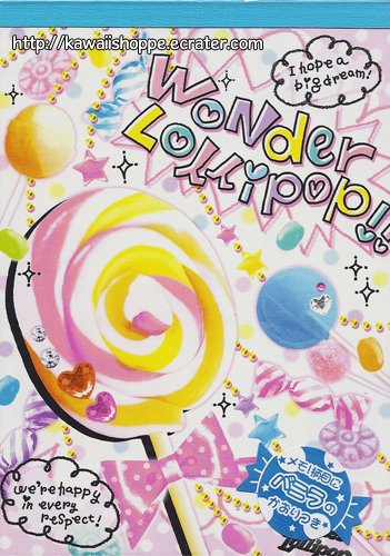 CRUX Wonder Lollipop Memo Pad Kawaii Lollipops Candies Sweets Desserts