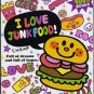Kamio Japan I Love Junk Food Mini Memo Pad Kawaii Hamburgers Fast Foods Doughnuts Cupcakes
