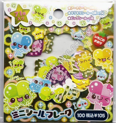 CRUX Lucky Clover Sticker Sack Kawaii Stickers Sacks