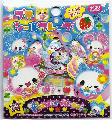 Kamio Japan Flower Angel Sticker Sack Kawaii Stickers Sacks