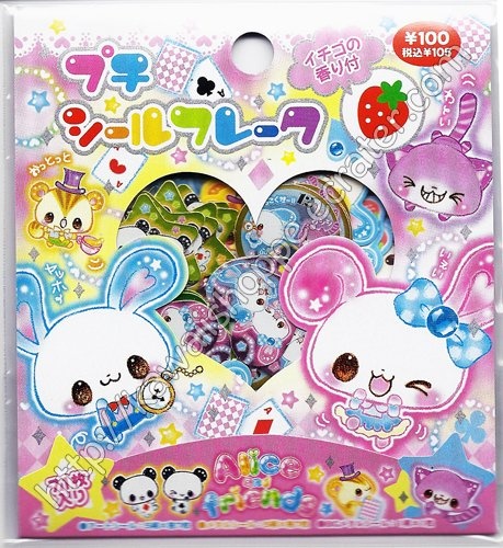 Kamio Japan Alice and Friends Sticker Sack Kawaii Wonderland Stickers Sacks