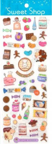 Sweet Shop Cookies Club Sticker Sheet Kawaii Stickers Bakery Candies Biscuits Chocolate Bars