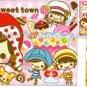 CRUX Sweet Town Girls Mini Memo Pad Kawaii Desserts Cakes Ice Cream