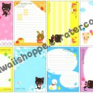 Kamio Japan Happy Peaceful Time Loose Memo Sheets Kawaii