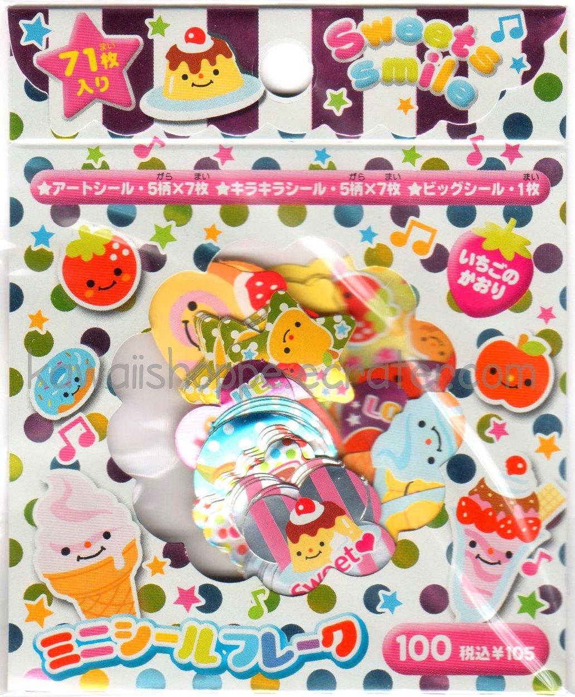 CRUX Sweets Smile Sticker Sack - RARE! Hard to find! Desserts Stickers Sacks Kawaii