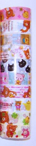 Wholesale Deco Tape 10 Rolls Rilakkuma Bear Set 6