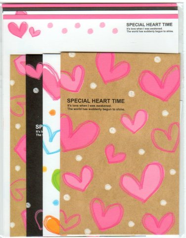 """Kamio Japan """"Special Heart Time"""" Letter Set"""