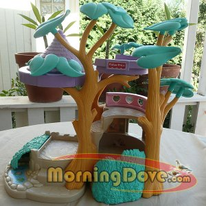 Fisher Price Hideaway Hollow Bunny Home - Nice Gently Played with Condition