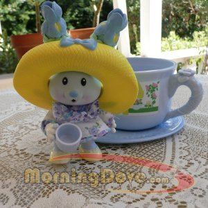 Tea Bunnies and Me Iris Bouquet and the Blooming Bunny Flower Shop Tea Cup