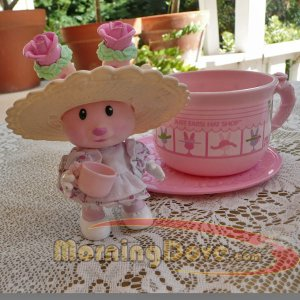 Tea Bunnies and Me Rose Bonnet  and her Just Ears! Hat Shop Tea Cup
