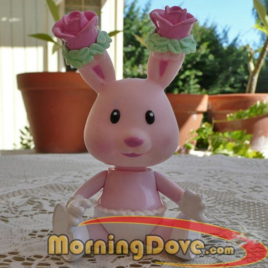 Tea Bunnies and Me Rose Bonnet Tea Bunny