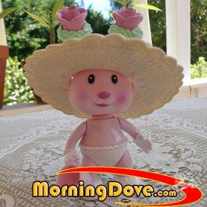 Tea Bunnies and Me Rose Bonnet with hat and mini bunny size cup