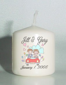 6 Wedding Bridal Shower Custom Favors Votive Candles Just Married Personalized