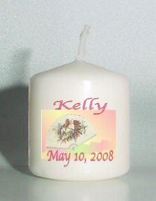 set of 6 Birthday Votive Candles Custom Favors or Add to Gift baskets Personalized
